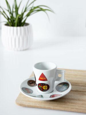 DELTA - Filiżanka do espresso z talerzykiem ORIGIN. Edycja limitowana