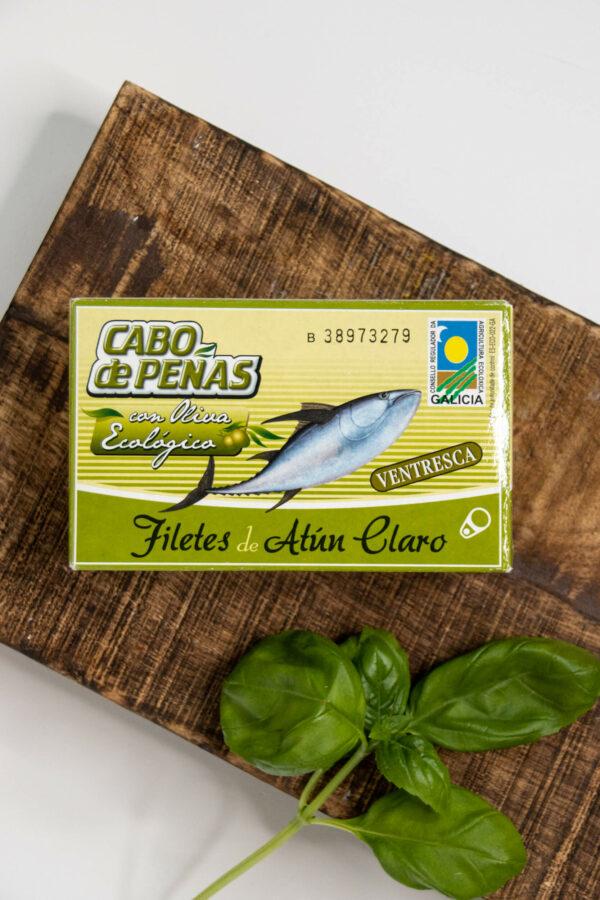 Filety z brzuszków tuńczyka w organicznej oliwie z oliwek extra virgin 111g CONNORSA