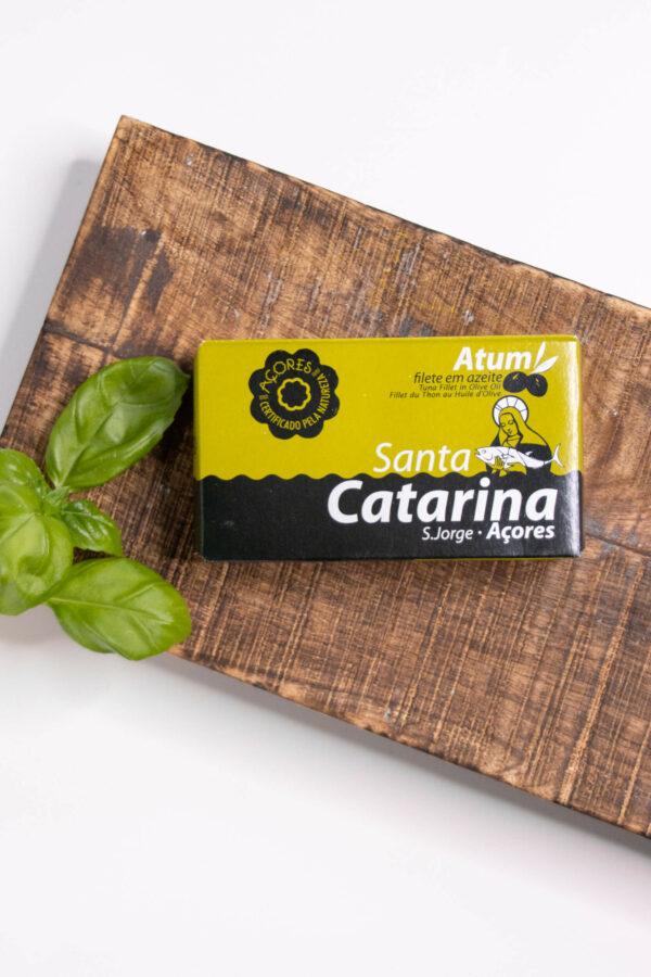 Filety z tuńczyka w oliwie z oliwek 120g SANTA CATARINA