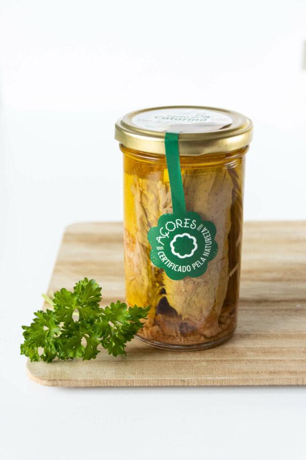 Filety z tuńczyka w organicznej oliwie z oliwek w słoiku 250g SANTA CATARINA