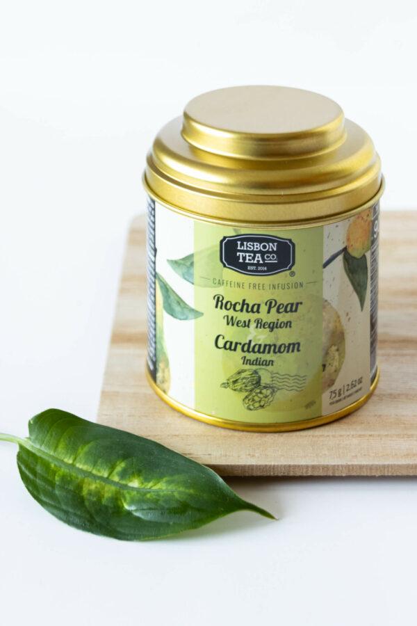 Gruszka Pera Rocha z indyjskim kardamonem - napar owocowo-ziołowy 75g LISBON TEA